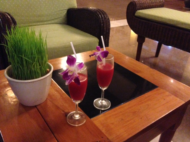 Welcome Drink at Palm Garden