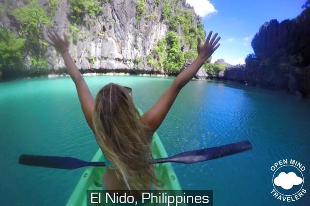 Kayaking in El Nido in the Philippines