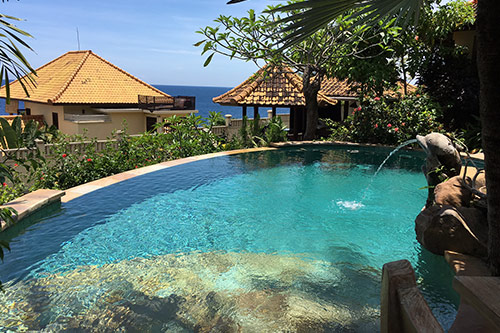 blue moon villas pools